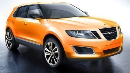 saab 9-4x in orange