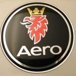 Black Saab Aero Badge