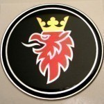 Black Saab Badge