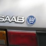Blue Saab Plane Badge