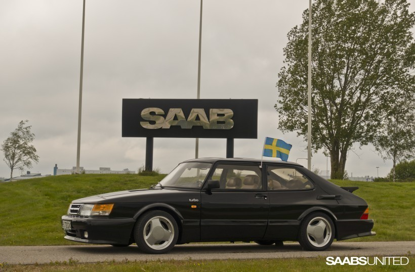 Saturday 6th was the National day of Sweden, so I found a Swedish flag and drove my T16 down to the Stallbacka factory for some photos.