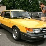 Three-door Saab 900s in Monte Carlo Yellow - must be rare.