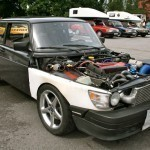 One seriously worked Saab 99