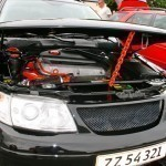 Saab 9-5 with modified grille (and plenty other)
