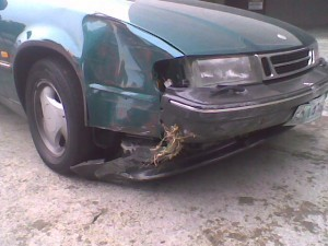 Saab 9000 accident