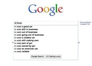 Is Saab Google search