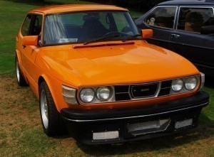 Orange Saab 99 Turbo