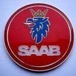 Red Saab Badge