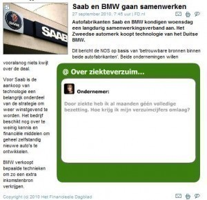 Saab-BMW Dutch report