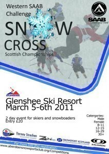 2011 Scottish Snowcross championship's poster