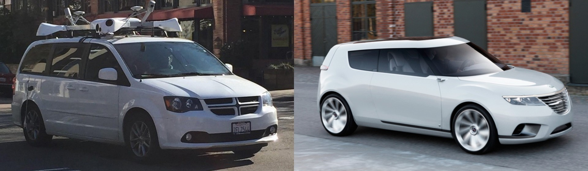 From apple prototype to Saab by Apple car.