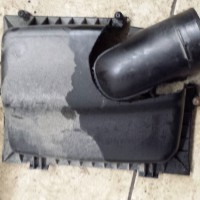 How to make a special air-filter box; cut out the pipe from a V6 box...