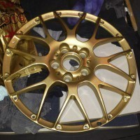 ...center painted in classic BBS gold...