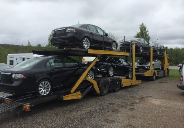 New Saab 9-3 Aero's on their way to the Netherlands