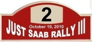 rally plate just saab