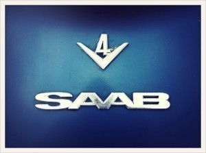 Saab V4 badge